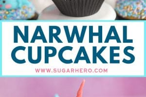 Narwhal Cupcakes Pinterest collage