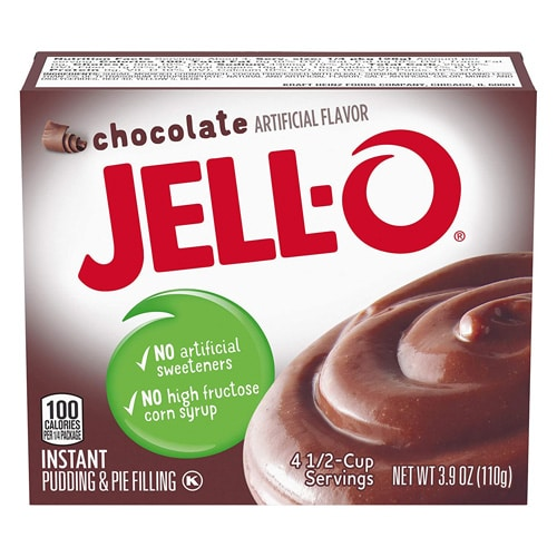 Box of Jell-o Chocolate Instant Pudding
