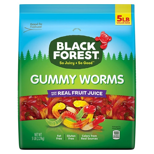 gummy worms in package