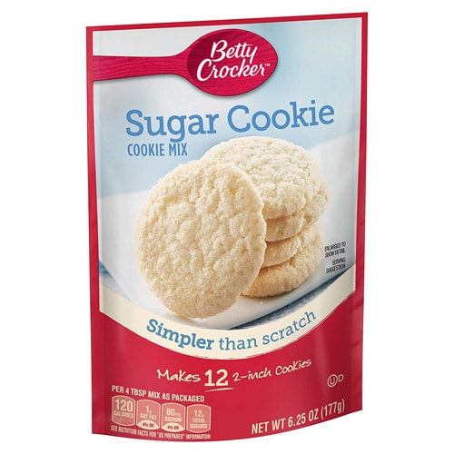 package of sugar cookie dough mix