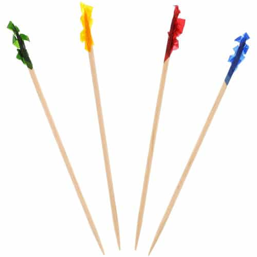 frill toothpicks in assorted colors