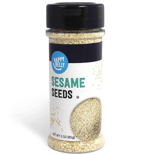 Jar of sesame seeds