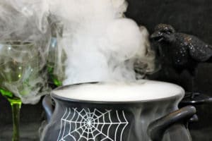 Witch's Brew Halloween Punch collage with text overlay for Pinterest