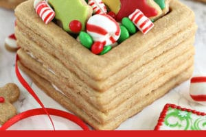 Picture of Edible Christmas Cookie Boxes with text overlay for Pinterest