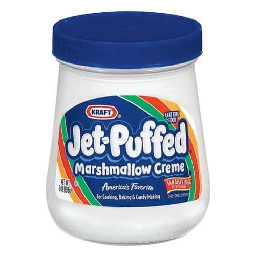 marshmallow cream in a jar