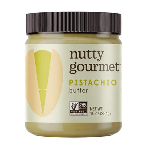 jar of pistachio butter