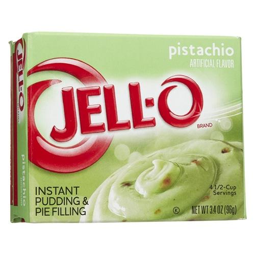 box of Jell-o pistachio pudding