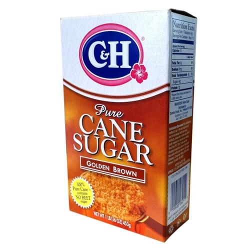 Box of C&H brown sugar.